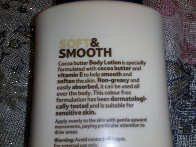 Tesco Soft & Smooth Body Lotion in Cocoa Butter