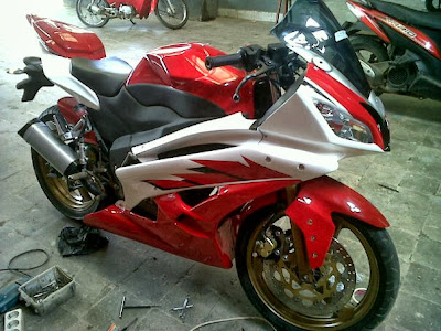 modifikasi scorpio z full fairing