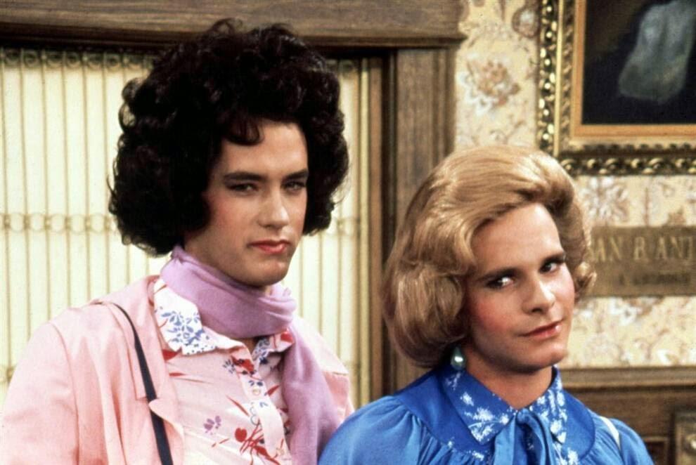 Том Хэнкс – жизнь и карьера в фотографиях, Tom Hanks - life and career in picturesТом Хэнкс в комедийном сериале «Bosom Buddies» в 1980 году