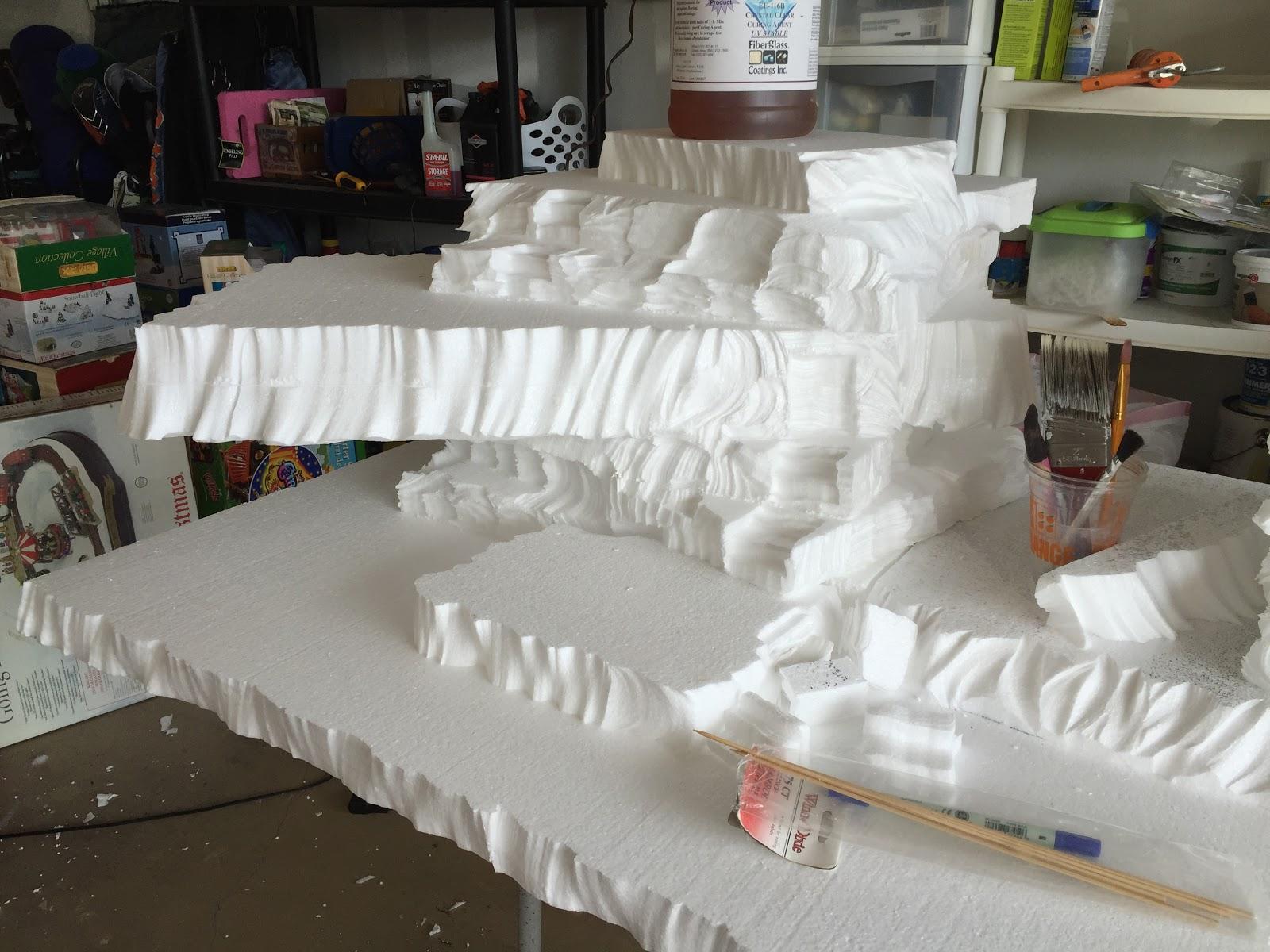 Copeland christmas blog: making a mini christmas village using styrofoam