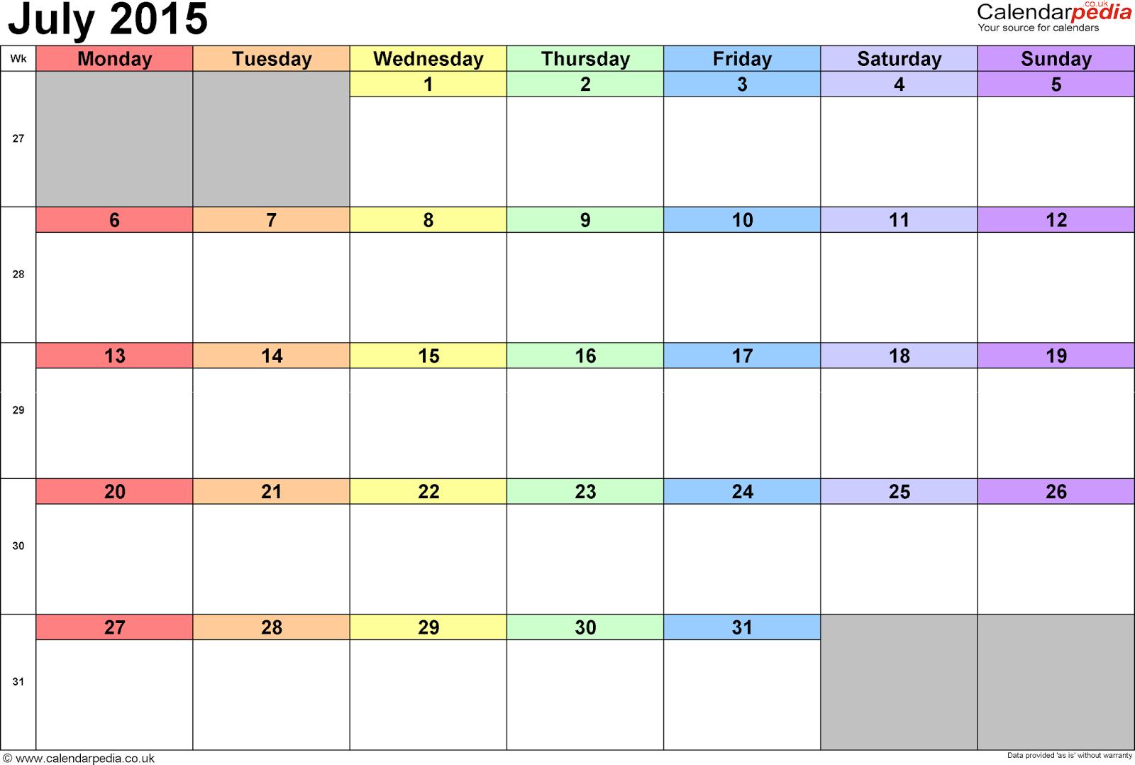 july 2017 calendar cute 2017 calendar with holidays
