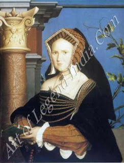 "The Great Artist Hans Holbein Painting ""Mary Wotton, Lady Guildford"" 1527 31½"" x 25½"" St Louis Art Museum"