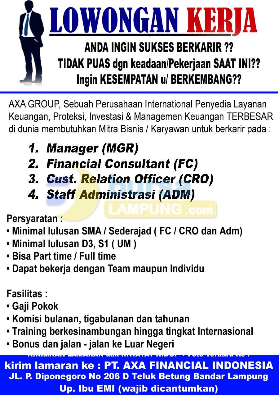 Lowongan Kerja AXA GROUP