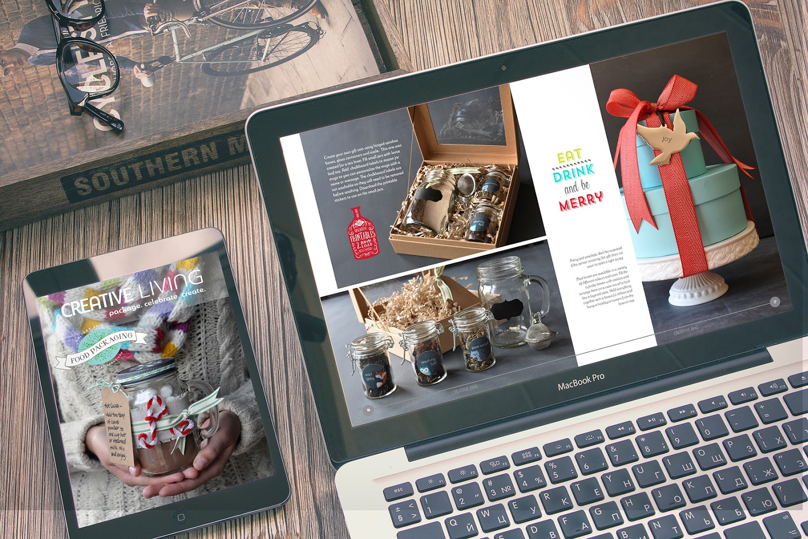 Creative Living online magazine - Lorrie Everitt's holiday diy projects using products from Creative Bag