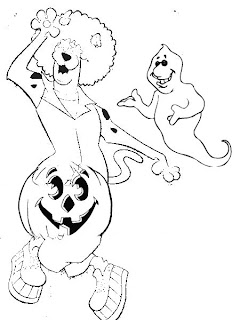 halloween coloring pages Scooby