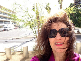 crime writer camille kimball on the courthouse steps of the jodi arias