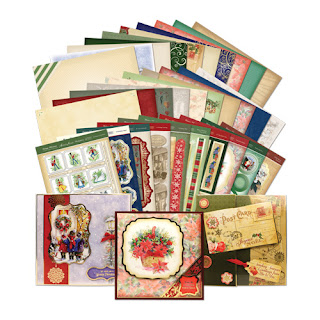 Hunkydory die cut toppers & co-ordinating card - Vintage Christmas Collection