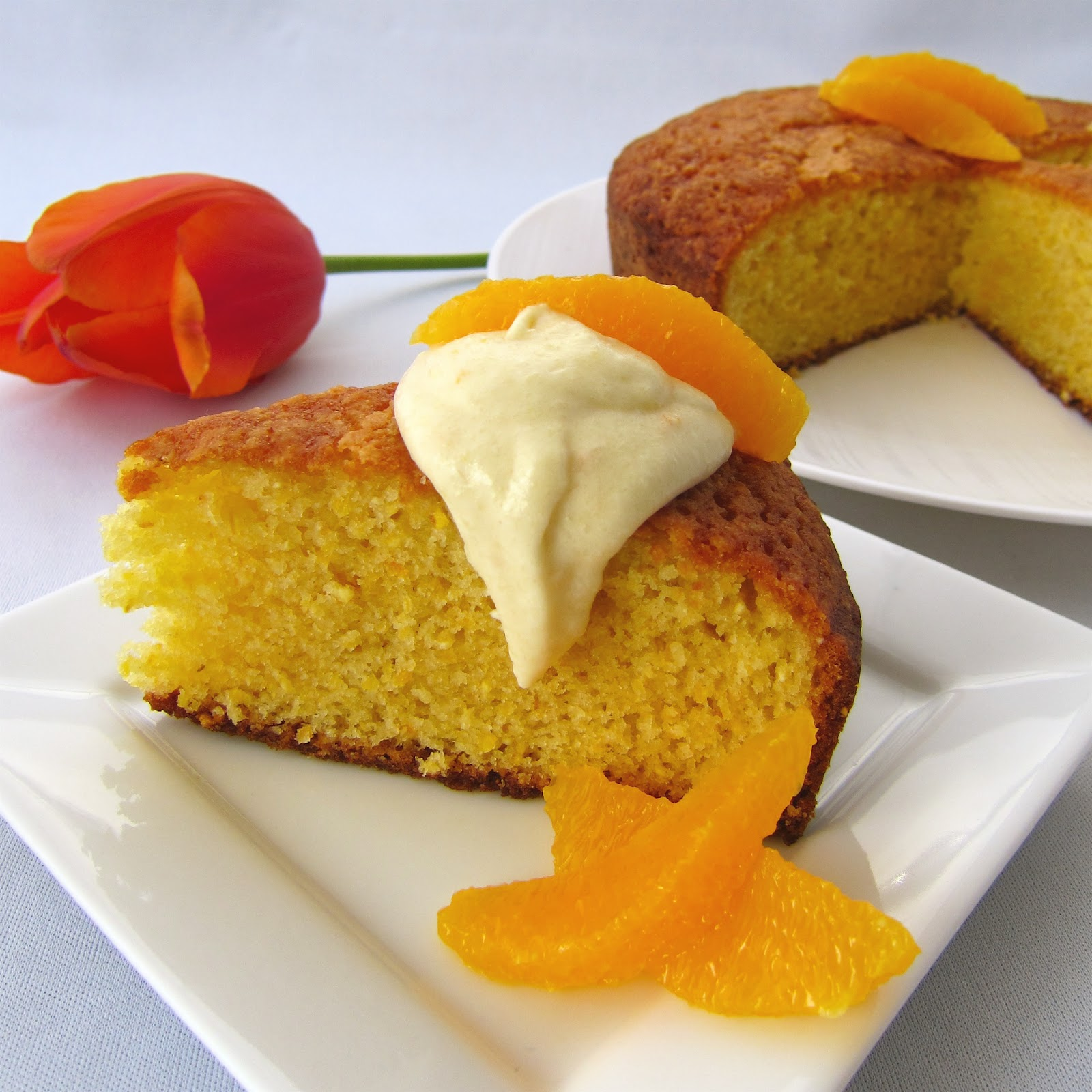Clever Wren: Orange Cornmeal Cake
