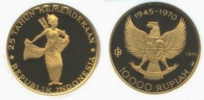 Uang Koin Pecahan 10.000 Rupiah 1970