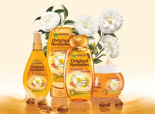 Garnier Original Remedies El champú maravilloso aceites de argán y camelia