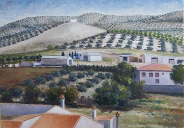 El cerro del depósito desde el parque; Fuerte del Rey, Jaén (15M)