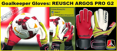 PES 2014 Goalkeeper Gloves Reusch Argos Pro G2 by Enzo))7((