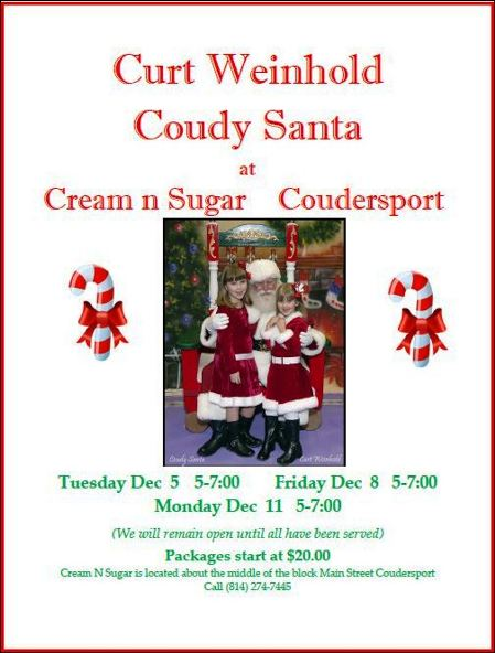 12-11 Pictures With Santa, Coudersport
