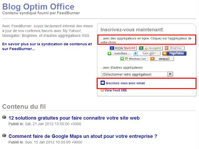 s'abonner au blog Optim Office
