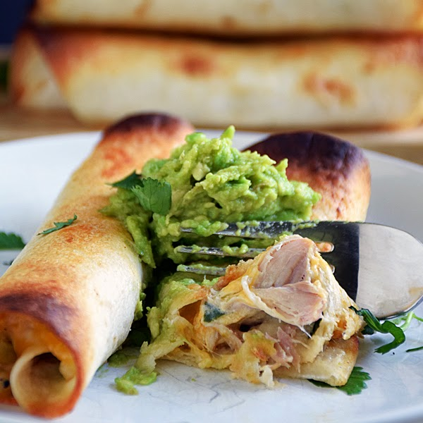 Slow Cooker Chicken Taquitos | by Life Tastes Good