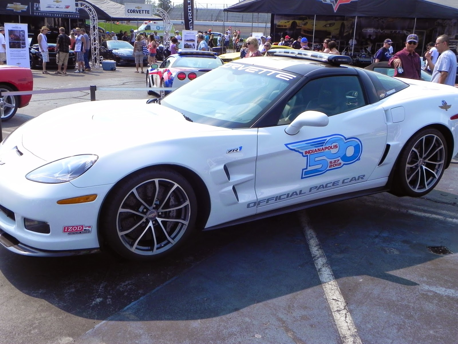 The 2012 Chevrolet Corvette C6 ZR1 pace model driven by Guy Fieri
