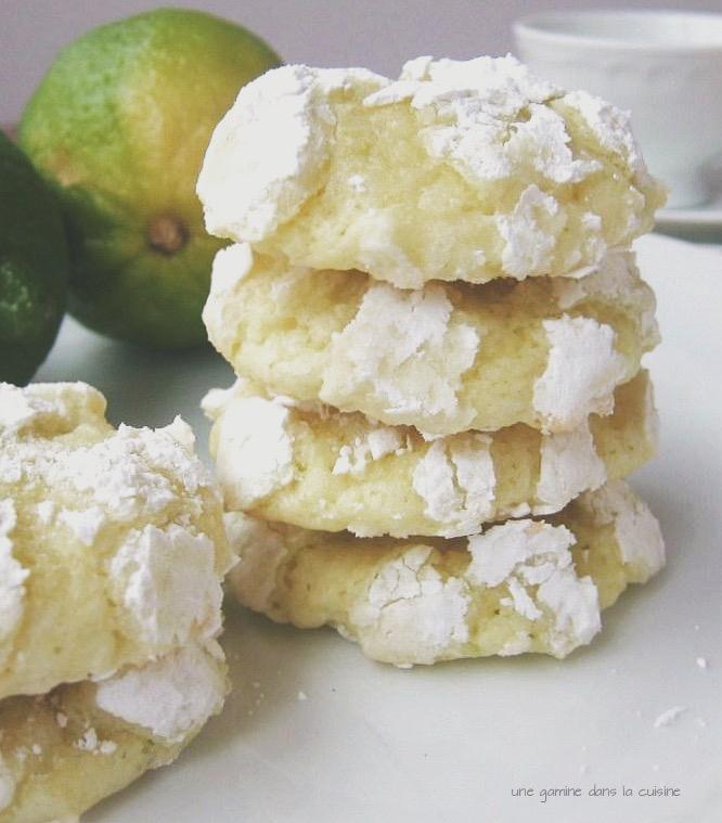 almond lime glacier cookies | une gamine dans la cuisine