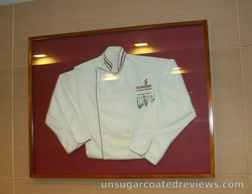 signed chef uniform at Center for Culinary Arts USDA Theater