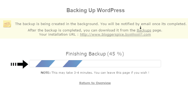 backing up wordpress