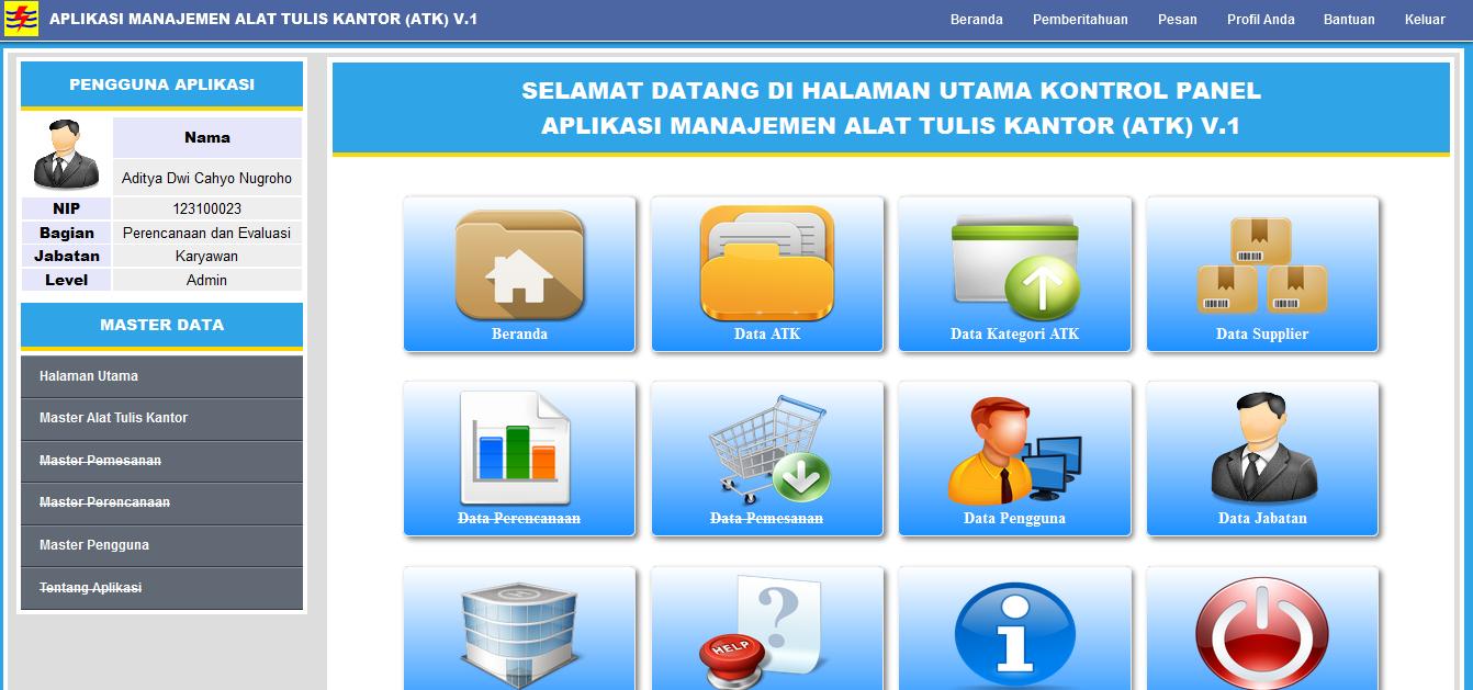 Aplikasi Manajemen Alat Tulis Kantor (ATK)