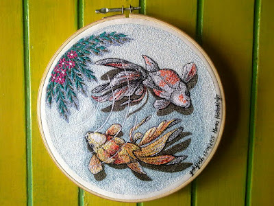 goldfish 04 embroidery painting