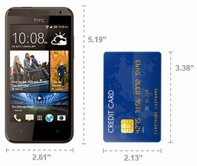 Dimensi HTC Desire 300 Android Jelly Bean 4.3 inch