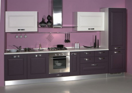 Cocinas color violeta colores en casa for Cocinas moradas modernas