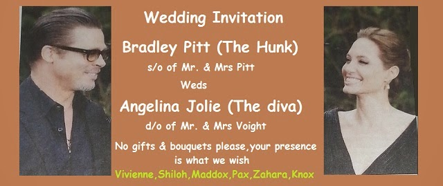 Brangelina's wedding invitation