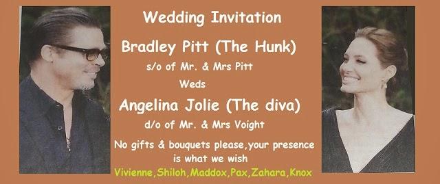 Brangelina's wedding invitation
