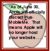 Apple's MobileMe quit hosting my website.