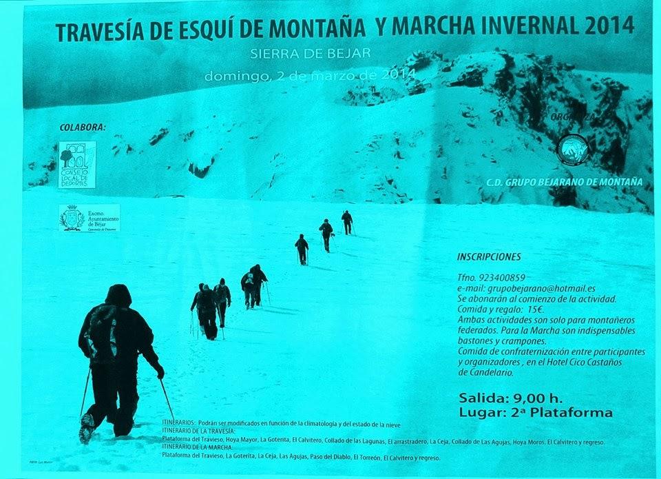 2/Marzo: Travesía de Esquí de Montaña y Marcha Invernal. Béjar