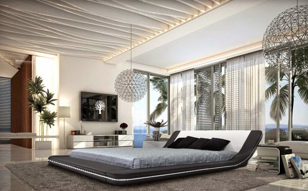 Top 10 noir et blanc chambre design d cor de maison for Chambre contemporaine design