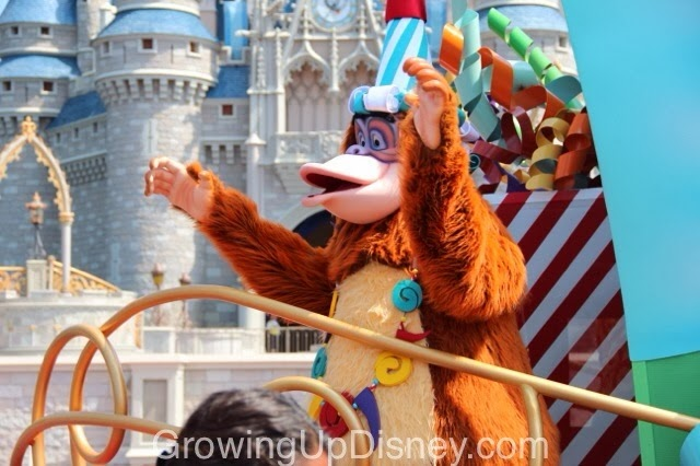King Louie in the Move It Shake It Celebrate It Street Party at Magic Kingdom