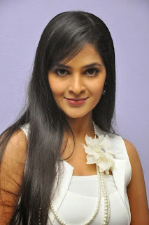 Madhumitha Latest Pictures in White Dress at Biriyani Movie Audio Launch