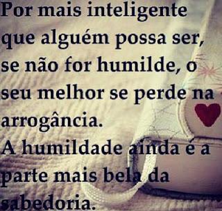Por mais inteligente que alguém possa ser,se não for humilde,o seu melhor se perde na arrogância.A humildade ainda é a parte mais bela da sabedoria