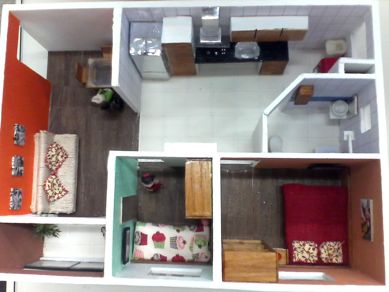 Design de Interiores: Maquete Apartamento Para Deficiente Físico #A73B24 1600 1200