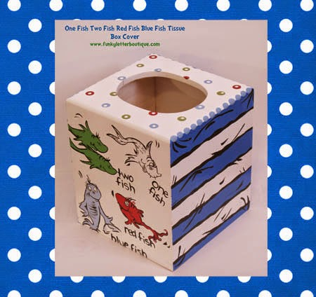 Dr. Seuss One Fish Two Fish Bathroom Kleenex Tissue Box Cover Purchase  Tissue Box Cover Here
