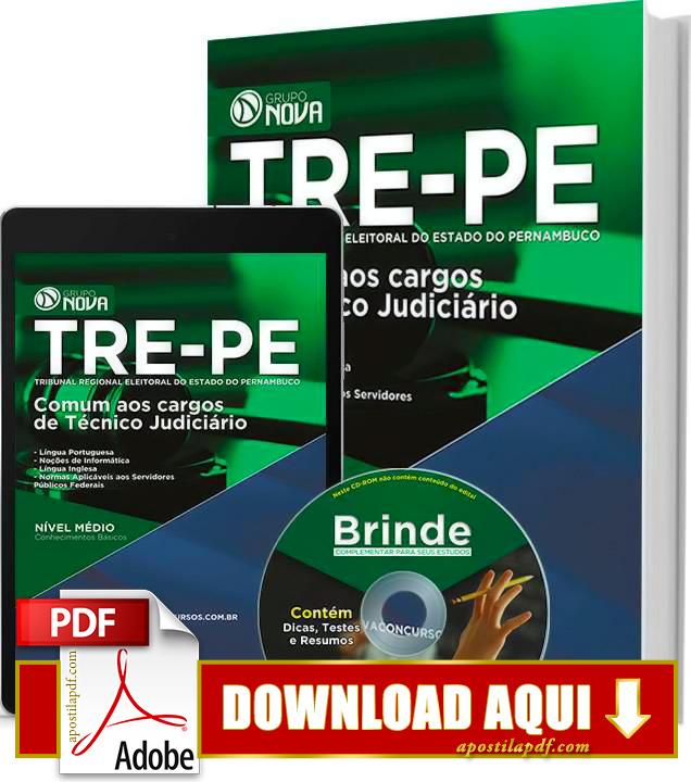 Apostila TRE PE 2015 Técnico Judiciário Impressa PDF Download Grátis