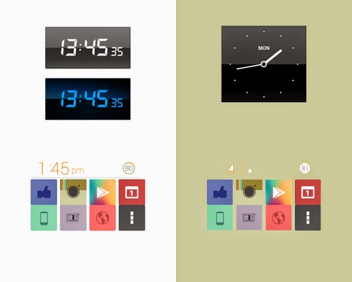 Clocks Along with Calendar Widgets For Android os
