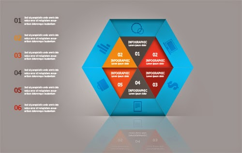 Create a Blue Polygonal Infographic In Photoshop