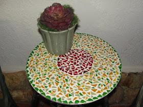 Mesa mosaico pequena