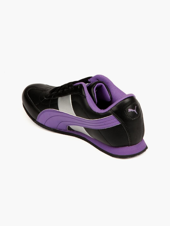 black and purple puma shoes