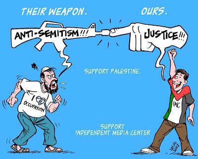 Criticar Israel não é antissemitismo - Charge Latuff 5