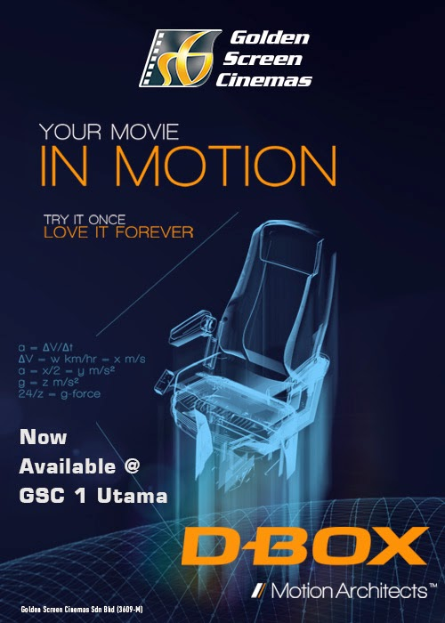 Gsc Now Offers D Box Motion Seats At Its Cinemas