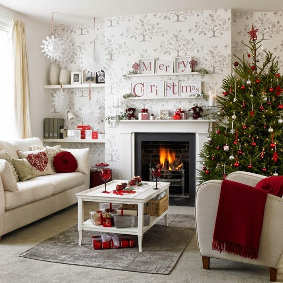 living room christmas decorating ideas 2014 - Christmas Decorating On A Dime