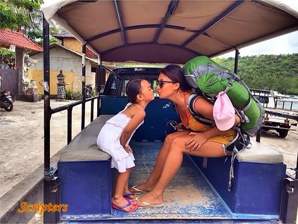 Aksi Nakal Nabila Huda Bersama Anaknya Di Bali