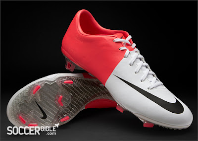 Pink and White Nike Football Boots
