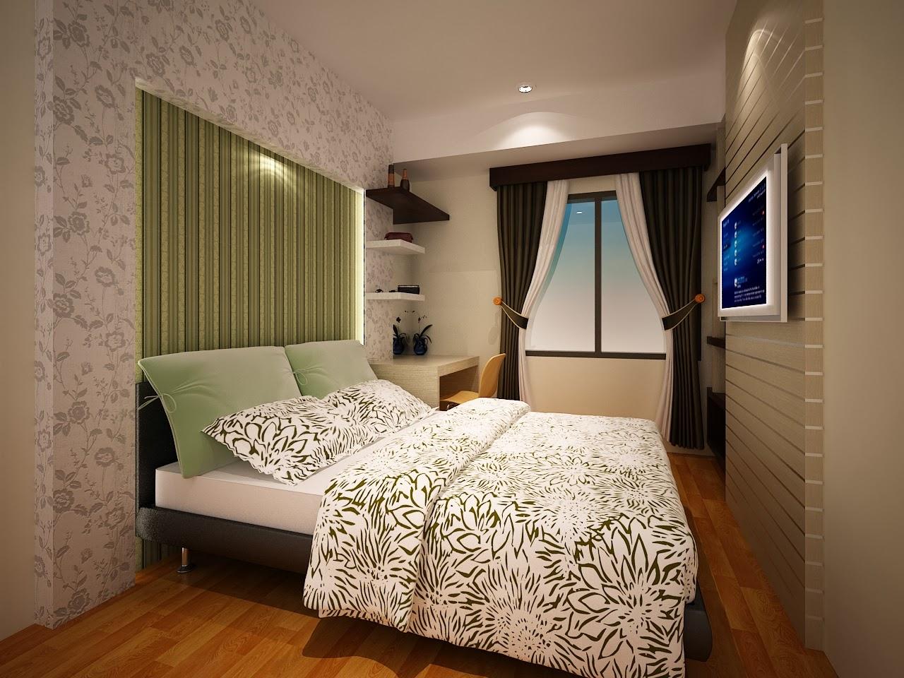 Desain interior apartemen silkwood residence 1 bedroom for Design interior apartemen 1 bedroom