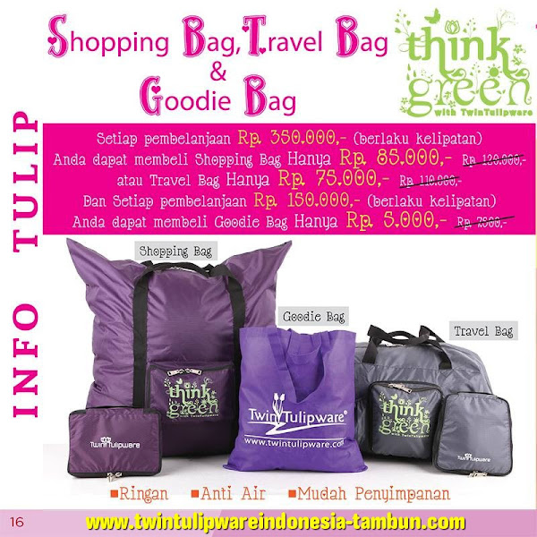 Promo Tulip Bag Feb 2016 : Shopping Bag, Travel Bag, Goodie Bag