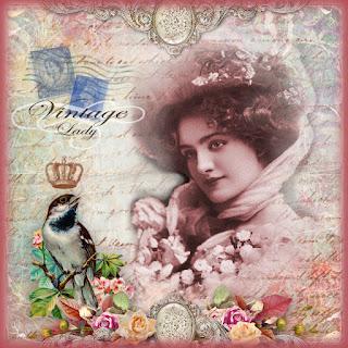 imagen vintage con flores